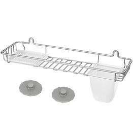 Полка навесная Metaltex 402716 для ванной фото, цена 792 грн