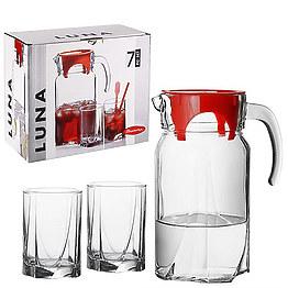 Набор стаканов с кувшином Pasabahce 97328 Luna фото, цена 218 грн