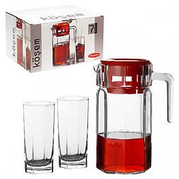 Набор Pasabahce кувшин и 6 стаканов Kosem 97415 фото, цена 204 грн