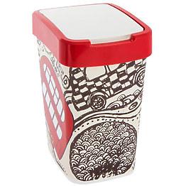 Ведро для мусора Алеана 121067 Евро с декором 18 л фото, цена 164 грн