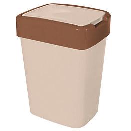 Ведро для мусора с крышкой Алеана 122067 18 л фото, цена 117 грн