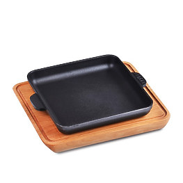 Сковорода квадратная с доской Brizoll Н181825-Д 18 см