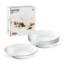 Набор глубоких тарелок Invitation 10335 Pasabahce фото, цена 125 грн