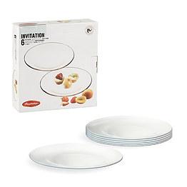 Набор тарелок Pasabahce Invitation 10519 26 см фото, цена 180 грн