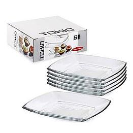Набор тарелок Pasabahce Tokio 54087 фото, цена 495 грн